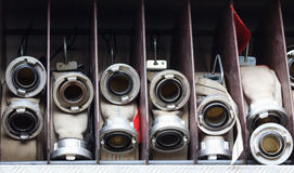 White firehoses Royalty Free Stock Photography