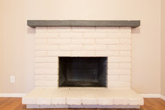 White Fireplace Stock Photos