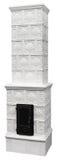 White Fireplace Stock Image