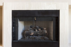 White Fireplace Stock Images