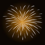 White fireworks on black background.  Royalty Free Stock Photos