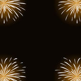 White fireworks on black background.  Royalty Free Stock Photography