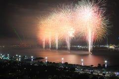 White fireworks Stock Photo