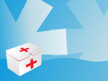 White first aid box with red cross Stock Images
