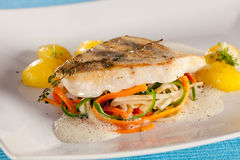 White fish filet of perch. Stock Photography