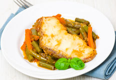White fish fillet with vegetables Royalty Free Stock Photography