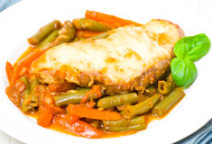 White fish fillet with vegetables Royalty Free Stock Photo