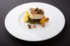 White fish fillet with vegetables