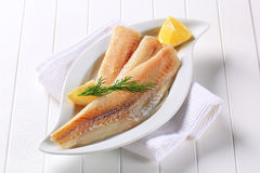 White fish fillets Stock Images
