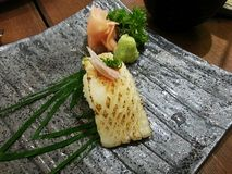 White fish grilled sushi, Japanese food, Japan Stock Photos