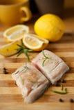 White fish with lemon Royalty Free Stock Image