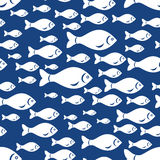 White fish pattern seamless Stock Image