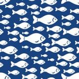 White fish pattern seamless Stock Image