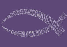 White fish on purple colour background Royalty Free Stock Image
