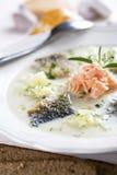 White fish soup Royalty Free Stock Photo