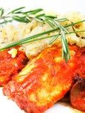 White fish with tomato sauce Stock Photo