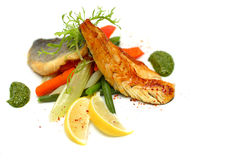 White fish with vegetable Royalty Free Stock Image