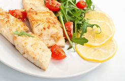 White Fish with Vegetables Stock Photos