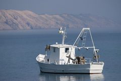 White fishing boat Stock Photo