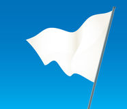 White flag Stock Photography