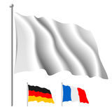 White flag. In vector flag contents horizontal and vertical separate parts, change its color like you need and make Multiply mode Royalty Free Stock Photos