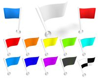 White Flag. The white flag of isolation on a white background. 3d model vector illustration