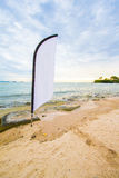 White flag for advertising at the beach. royalty free stock image