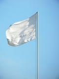 White flag. Against the blue summer sky Stock Photos