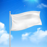 White flag blue sky background poster Royalty Free Stock Image