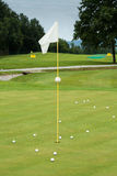White flag on a golf course Stock Photography