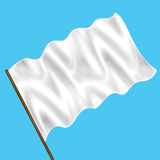 White flag on the sky Stock Image