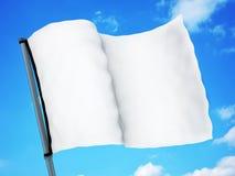 White flag and sky Royalty Free Stock Photos