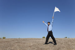 White flag for surrender Stock Photos