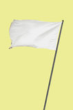 White flag yellow Royalty Free Stock Photos