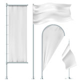 White flags Stock Image