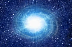White flash in cosmos sky backgrounds Stock Image