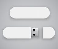 White flash drive Stock Photography
