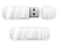 White flash drive Stock Images