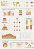 White flat infographics Stock Photography