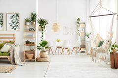 Flat with brazilian chair stock images