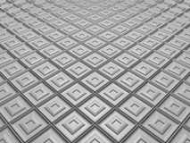 White fleeing mosaic with decorated tiles Stock Image