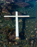 White Floating Cross Royalty Free Stock Photo