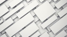 White floating 3D panels with shadow Royalty Free Stock Photos