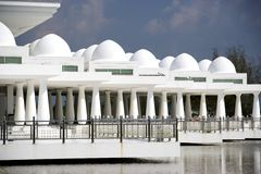 White floating mosque Royalty Free Stock Photo
