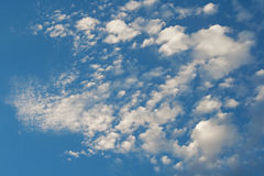 WHITE FLOCKY CLOUD Stock Image