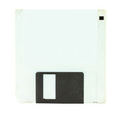 White floppy disk for a computer isolate Stock Photo