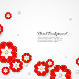 White floral 3d background. This is file of EPS10 format Stock Image