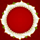White Floral Circle Frame Stock Photography