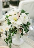 Wedding Table Centerpieces. Royalty Free Stock Images