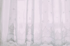 White Floral Curtain Stock Images